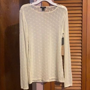Polka a dot long sleeve top